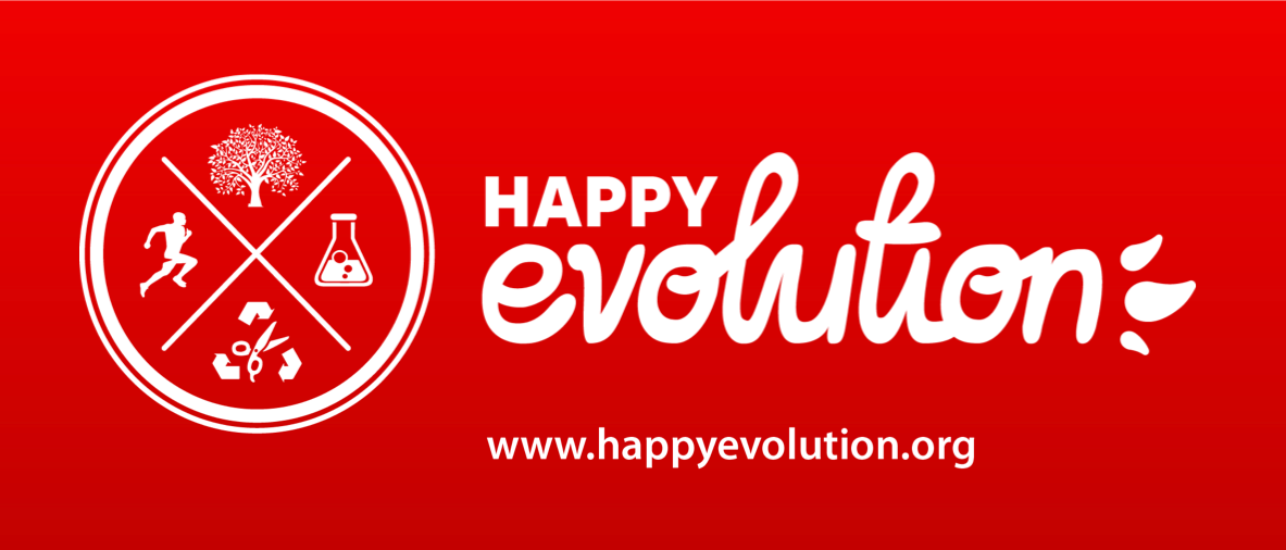 Happy Evolution Logo red